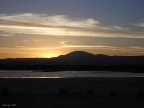 Sonnenuntergang Uyuni Bolivien
